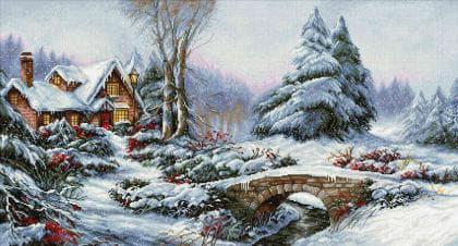 Зимовий пейзаж BU5002 Luca S