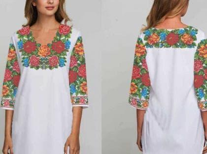 Заготовка плаття Буковинська сорочка 018 Бісерок