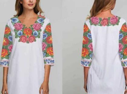 Заготовка плаття Буковинська сорочка 097 Бісерок