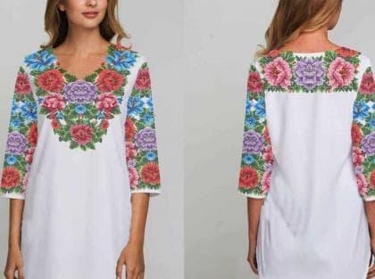 Заготовка плаття Буковинська сорочка 300 Бісерок