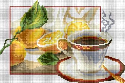 Чай з лимоном DT702 Алмазна мозаїка IF