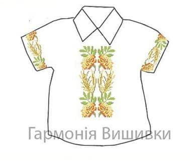 Сорочечка на 1-3 роки СД-1-3 Чорнобривці-колоски Гармонія