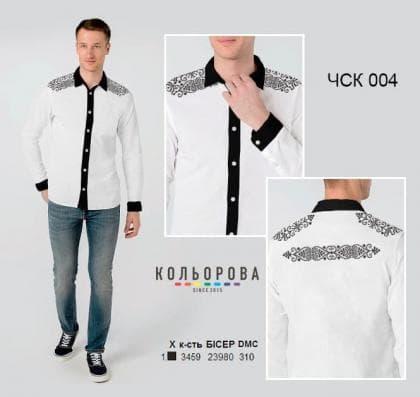 Чоловіча сорочка комбінована ЧСК-004 Кольорова