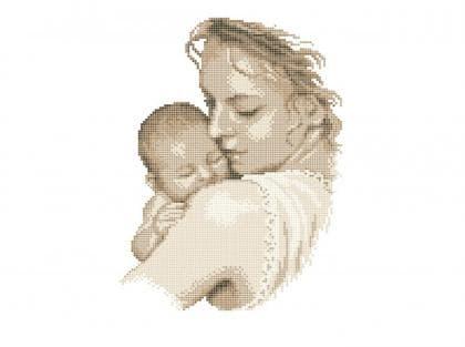 Матір з дитинкою Чв-3449 Бісерок