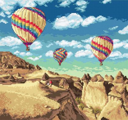 Повітряні кулі над Гранд-Каньйоном LETI 961 Letistitch