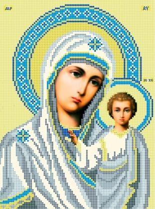 Мати Божа  Казанська ЧВ-3109 Бісерок