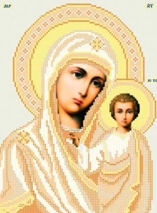 Мати Божа  Казанська ЧВ-3114 Бісерок