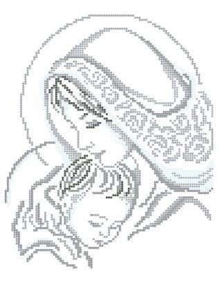 Мадонна з дитиною ЧВ-3150 Бісерок