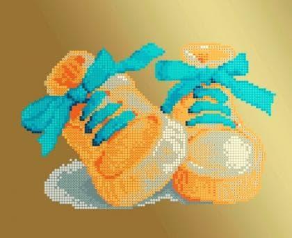 Черевички блакитні ЧВ-3177 Г Бісерок