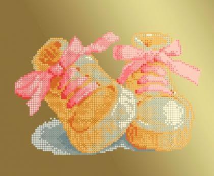 Черевички рожеві ЧВ-3177 Р Бісерок
