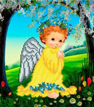 Ангел з незабудками ЧВ-3185 Бісерок