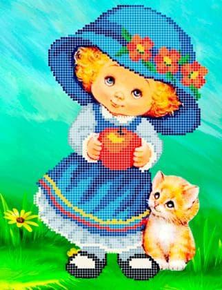 Дівчинка в капелюшку ЧВ-3189 Бісерок