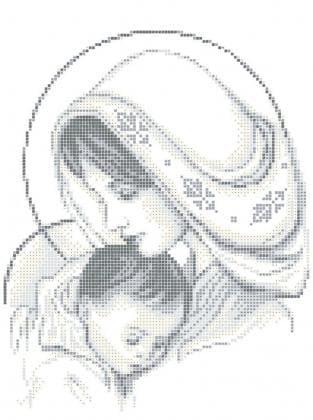 Мадонна з немовлям ЧВ-3350 Бісерок