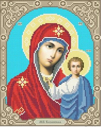 Мати Божа  Казанська ЧВ-3445-1 Бісерок