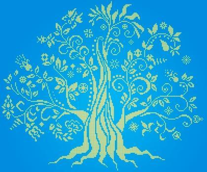 Дерево достатку ЧВ-6018 Бісерок