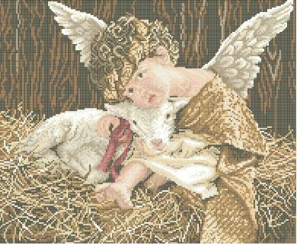 Ангелик з овечкою ЧВ-6019 Бісерок