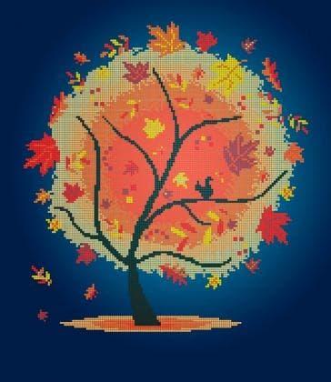 Пори року. Осіннє деревце ЧВ-6023 Бісерок