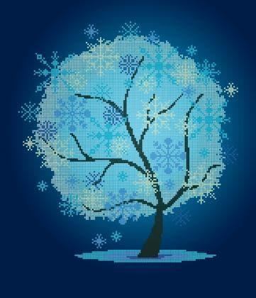 Пори року . Зимове деревце ЧВ-6024 Бісерок