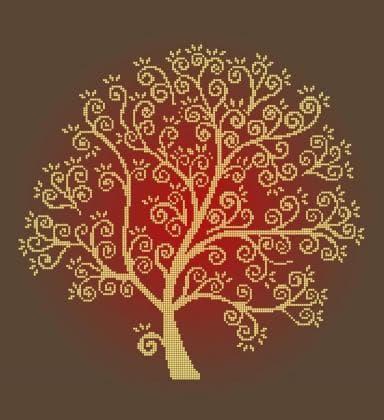 Золоте дерево ЧВ-6026 К Бісерок