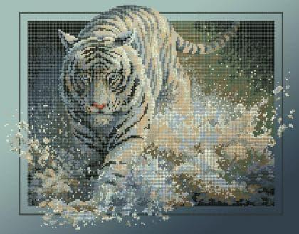 Тигр у воді ЧВ-6053 Бісерок