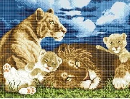Сім'я левів ЧВ-6064 Бісерок