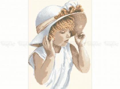 Дівчинка в капелюшку ЧВ-6080 Бісерок