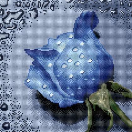 Троянда синя TT600 Алмазна мозаїка IF