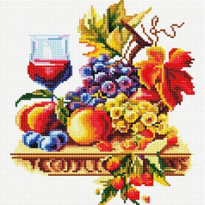 Вино і фрукти TT603 Алмазна мозаїка IF