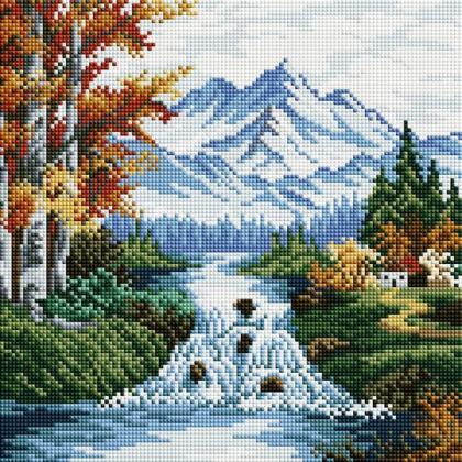 Гірська річка TT604 Алмазна мозаїка IF