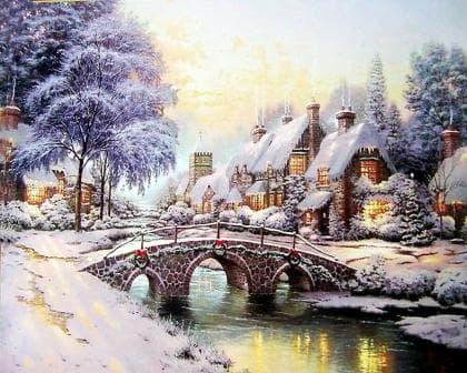 Зимова ніч DM-375 Алмазна мозаїка
