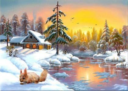 Зимова пора DM-378 Алмазна мозаїка
