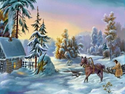Морозний ранок DM-379 Алмазна мозаїка