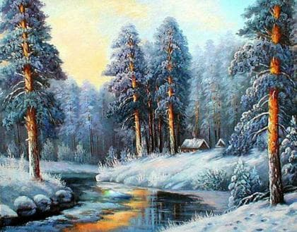 Чарівна зима DM-383 Алмазна мозаїка