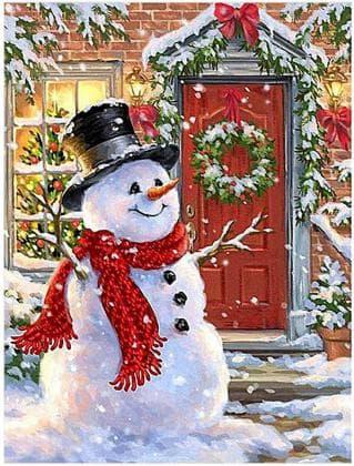 Веселий сніговик DM-384 Алмазна мозаїка