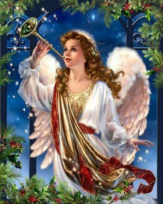 Ангел Різдва DM-386 Алмазна мозаїка