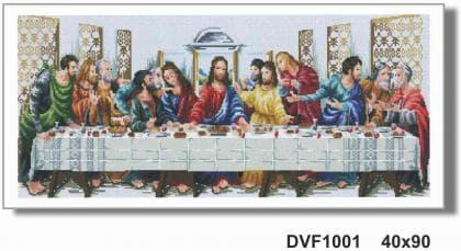 Тайна вечеря DVF1001 Алмазна мозаїка IF