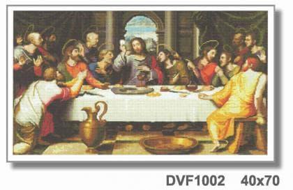 Тайна вечеря DVF1002 Алмазна мозаїка IF