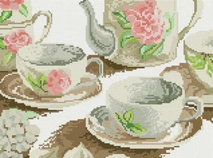Чайний сервіз ST437 Алмазна мозаїка IF