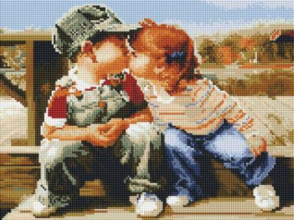 Перший поцілунок ST430 Алмазна мозаїка IF
