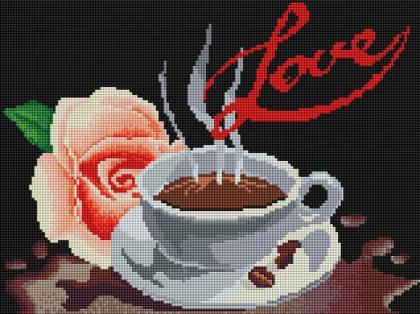 Кава і троянда ST423 Алмазна мозаїка IF