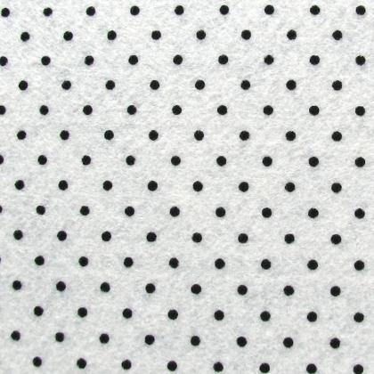 Фетр 1 мм білий в горошок ФБЧГ-1