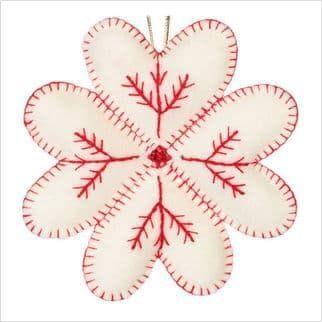 Набір з фетром Біла сніжинка