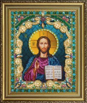 Ікона Христа Спасителя Р-408 Картини бісером