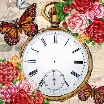 Годинник Метелики і троянди