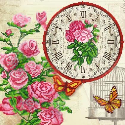 Годинник Вінтажний з трояндами