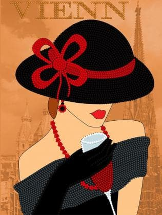 Дама в капелюсі