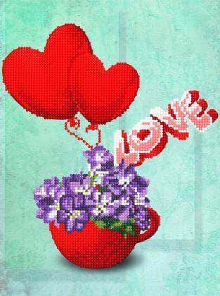 Квіти з сердечком