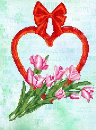 Тюльпани з сердечком