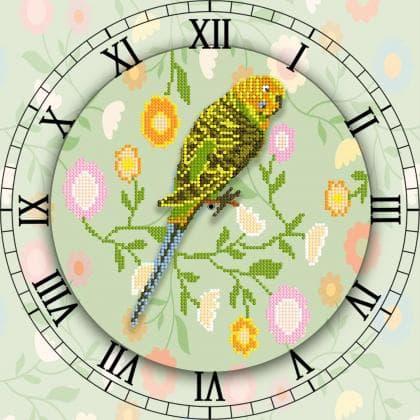Годинник з папужкою
