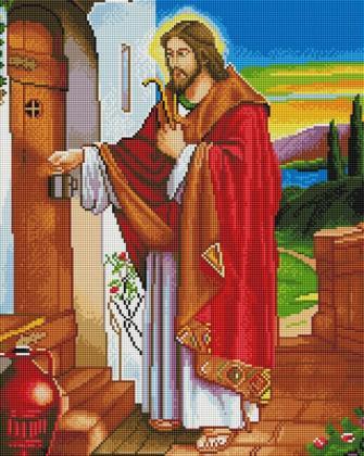 Ісус стукає в двері SP009 Алмазна мозаїка IF